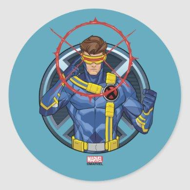 X-Men | Cyclops Character Badge Classic Round Sticker