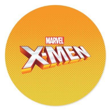 X-Men | Gold and White X-Men Logo Classic Round Sticker