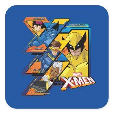 X-Men | Hi-Tech Team Badge Square Sticker