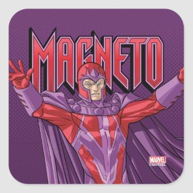 X-Men | Magneto Levitating In The Air Square Sticker