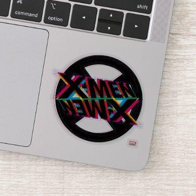 X-Men | Neon Offset Lined Logo Sticker