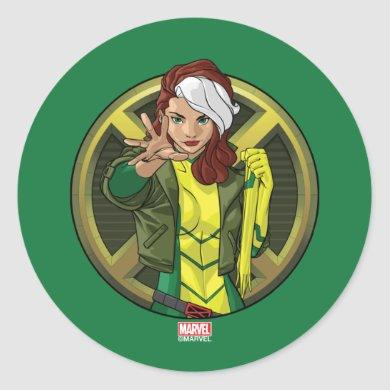 X-Men | Rogue Character Badge Classic Round Sticker