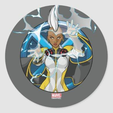X-Men | Storm Character Badge Classic Round Sticker