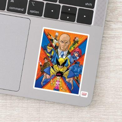 X-Men   X Themed Group Collage Sticker