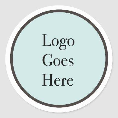 Your Logo Goes Here Classic Round Sticker