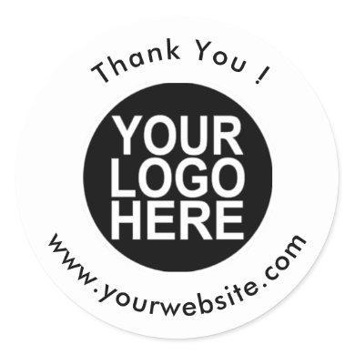 Your Logo, Name & Website Promo Classic Round Classic Round Sticker